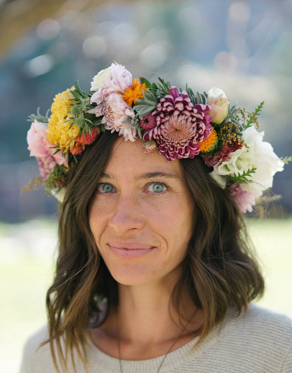 A really fun flower crown I got to make in October with all those mums! Photo by Nelson Esseveld.