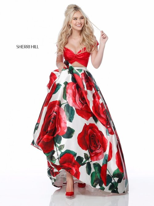 3912d387d51 This giant red rose floral print will be an absolute stand out this year.  It is bold