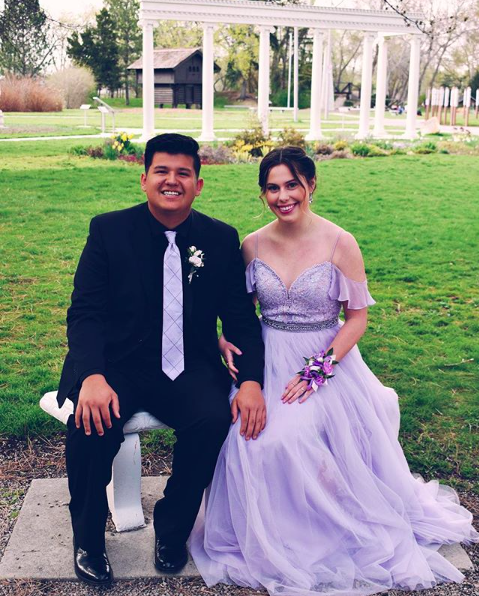 "Jocelyn: ""I loved Prom this year because I felt lovely in lilac."""
