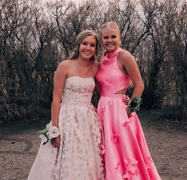 "Hannah: ""I felt confident in my Prom dress because I don't usually go for strapless dresses.  The gold in the dress is also not something that I imagined myself in but I tried it on and literally fell in love with everything about it! I loved the way it made me feel, which is why I couldn't see myself in any other dress!"""