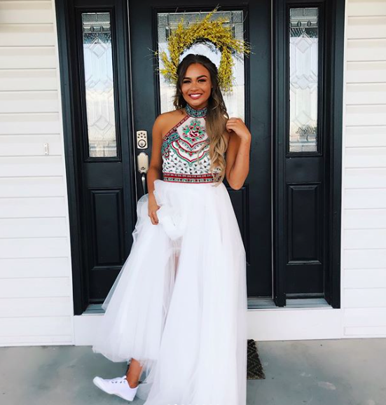 "KaAlona: ""Prom was definitely a highlight for me! I got to wear a gorgeous Sherri Hill dress, and dance the night away with all of my friends!"""