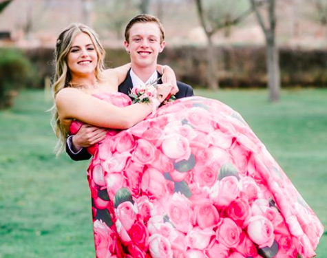 This girl is gorgeous in pink floral print! Last year, her Ypsilon Prom dress was a gorgeous floral two-piece, and we love this one just as much. Sherri Hill is always incredible, year after year! Thanks for shopping with us Aspen!