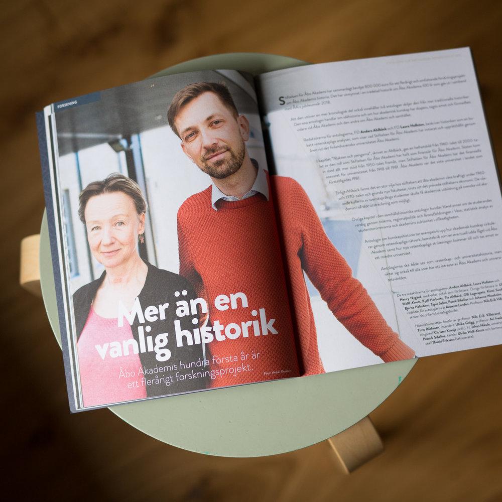 Anders Ahlbäck, Laura Hollsten