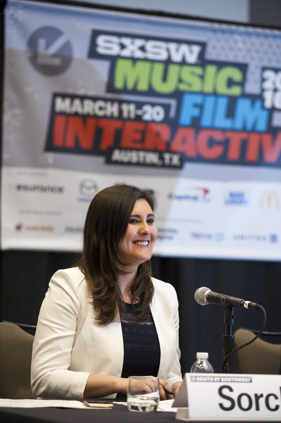 Speaking on encryption debate at SXSW Interactive in Austin, Texas. (Photo by Ann Hermes, the Christian Science Monitor)