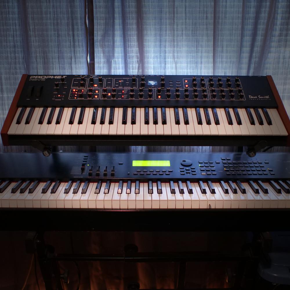 Keyboards   Dave Smith Prophet REV2 // Yamaha S90es controller // Arturia Keylab 61 controller // Omnisphere // Kontakt // Lots of other software synths