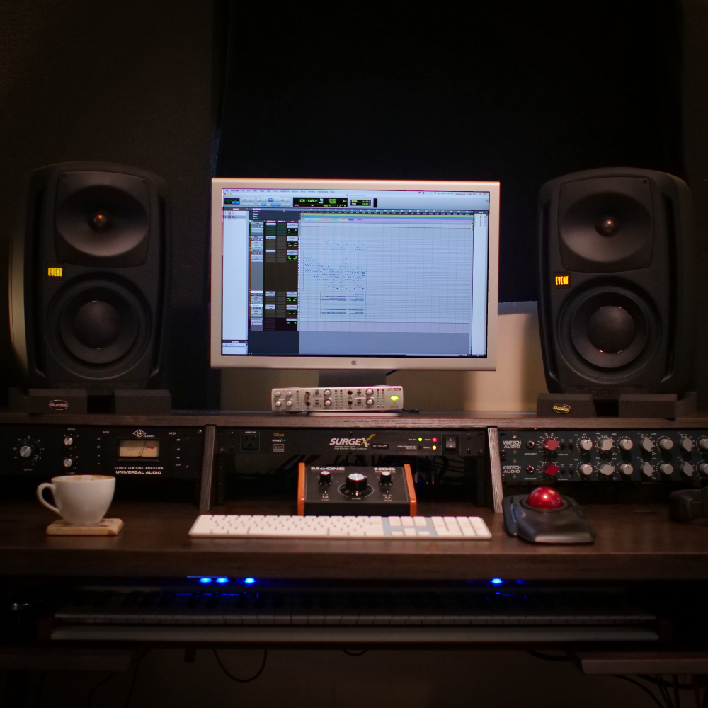 Recording     (2x) Vintech X73i Mic Preamps // Universal Audio 1176LN Limiter // Pro Tools HD2 // AVID HDio // Event Opal Monitors // NOS McOne Monitor Controller