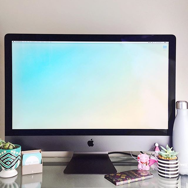 ✨🖥✨ Alex Jane Designs is ready to craft your brand and handle all your digital design needs with a new iMac Pro! ⭐️ ... . other desk essentials: @pusheen mini plush, @swellbottle, @moo biz cards, and a @divinechocolateusa dark chocolate hazelnut truffle bar 🍫😉 ... . . . #graphicdesign #logo #branding #branddesign #digitalart #visualart #webdesign #workfromhome #smallbusiness #graphics #brand #iphonephotography #pusheen #deskdecor #myoffice #workmode
