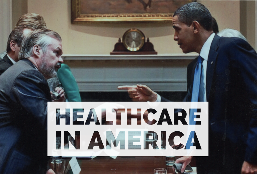 Kaiser Permanente CEO  George Halvorson with Former U.S. President Barack Obama