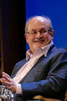 Salman Rushdie speaking at the 2016 Hay Festival.