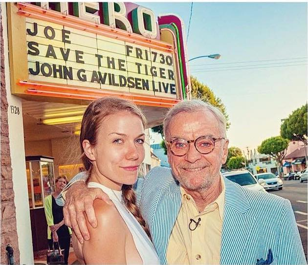 The author with her father, John G. Avildsen.