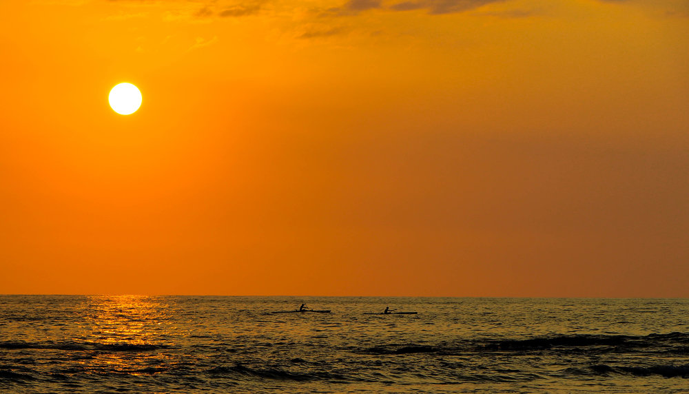 Sunset Paddlers - Big Island, HI