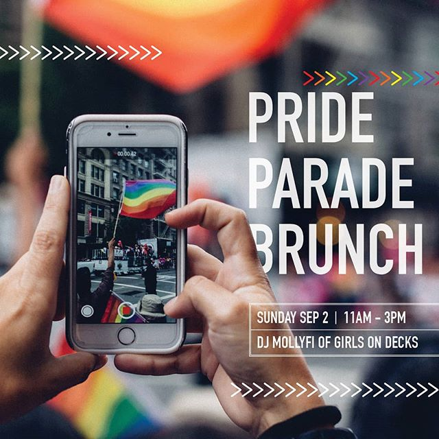 Join us this Sunday, September 2nd at 11am to watch the @calgarypride Parade from our patio! We'll be serving up a special brunch menu and Dj MollyFi of Girls on Decks will be spinning until 3pm! 🌈