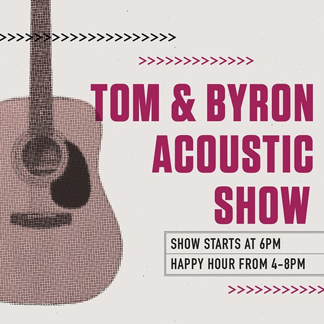 Our good friends, Tom & Byron, are back for another acoustic show this Friday, October 12th! Join us for some Happy Hour drinks and great local music!