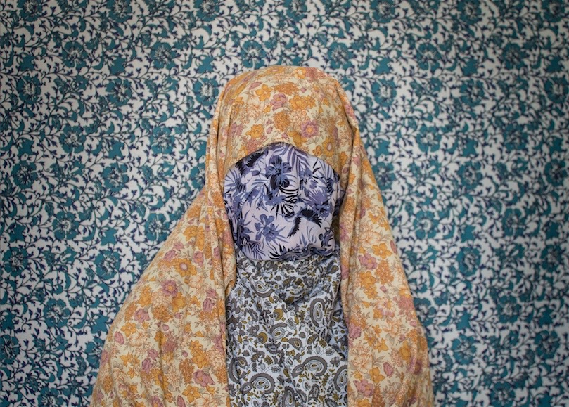 Liberty, Cast No Evil Series  by Alia Ali 107 cm x 72 cm Hahnemulle Photo Rag 310gr Textile covered frame Marrakech, Morocco. 2015