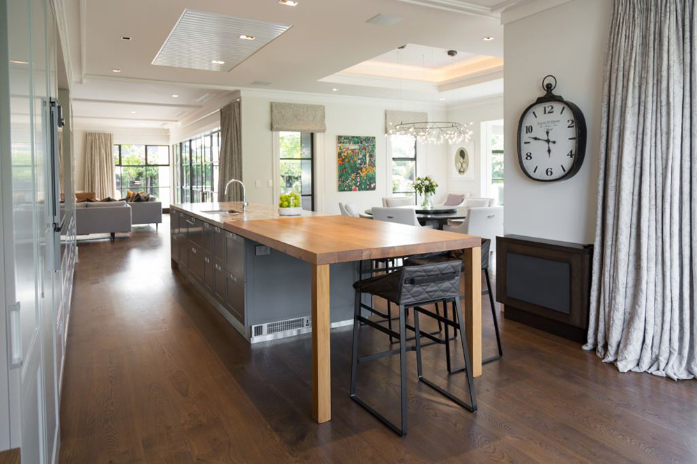 Fendalton House Kitchen Bench Table rimu by Treology Design NZ