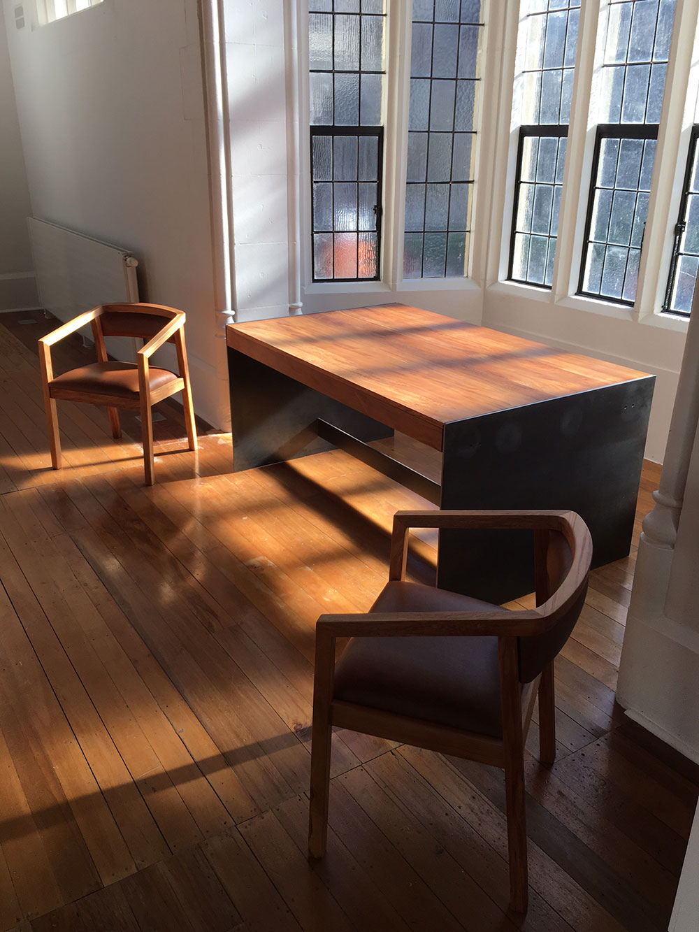 Treology-NZ-Mica-rimu-steel-desk-&-Milford-matai-chairs-for-the-Central-Art-Gallery,-Christchurch.jpg