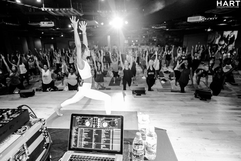First sold out Hip Hop Yoga Warriors & Mimosas event at City Winery Atlanta, May 2017