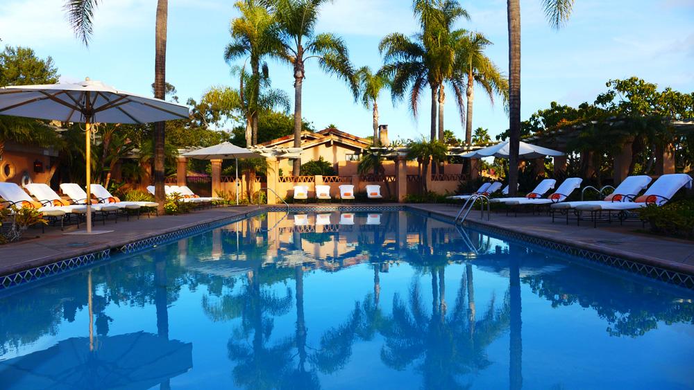 Main pool at the Rancho Valencia Resort in Rancho Sante Fe, CA.