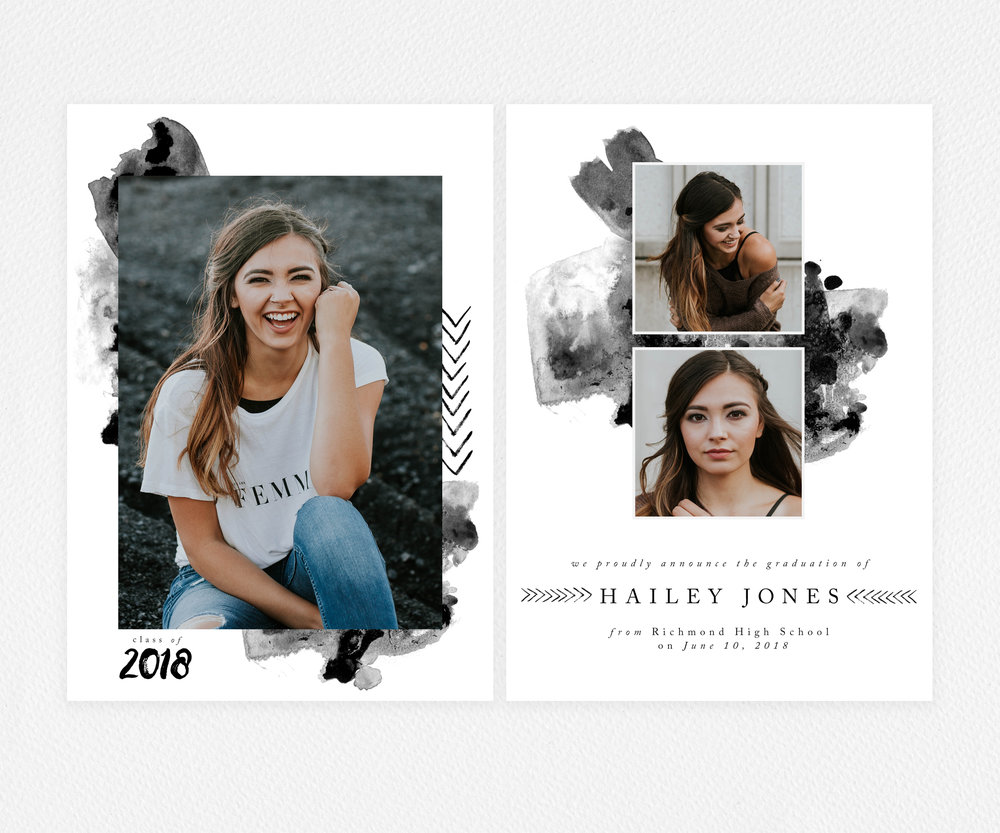 Inked Class of 2018  Graduation Card Template | photos by Brooke Cagle