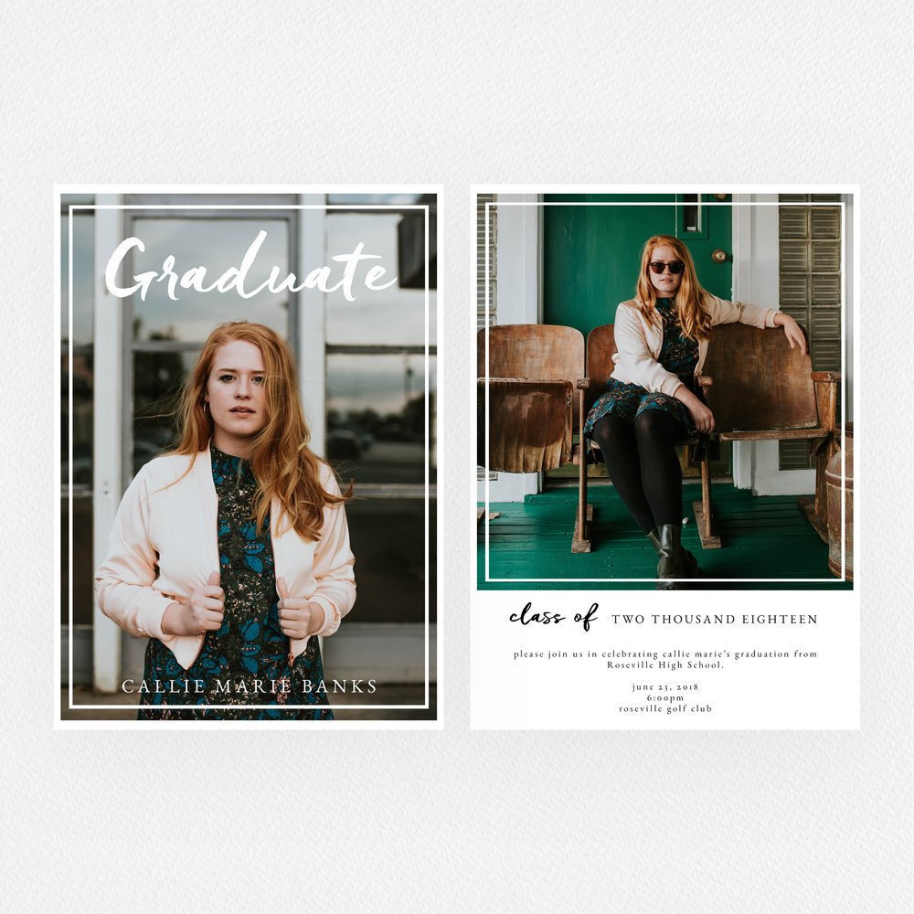Preppy Graduate Template | photos by Brooke Cagle