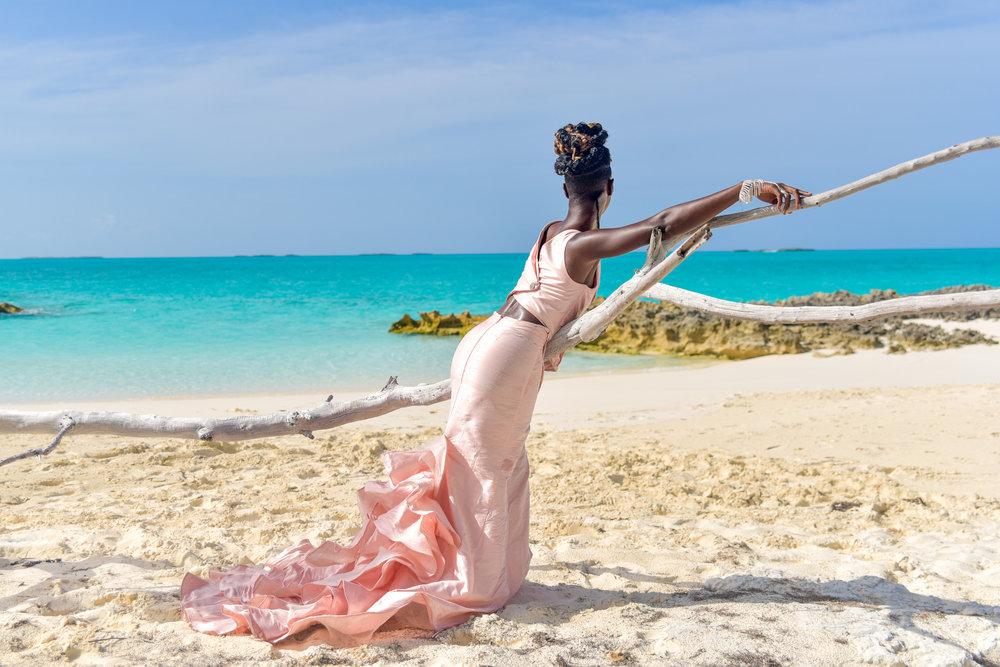 Cascade Gown Pink