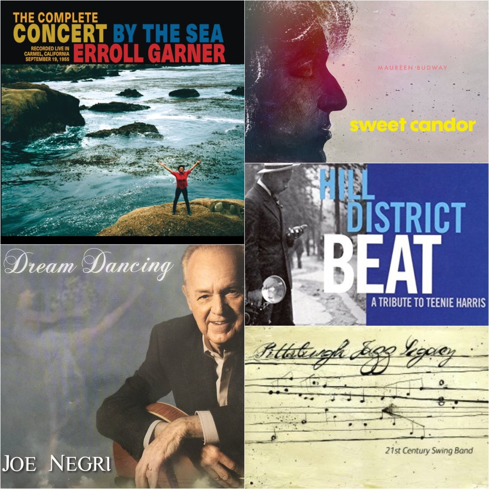 Pittsburgh Jazz Sampler all 5 Featured CDs$600 - $50 monthly sustaining gift, or $600 one-time giftErroll Garner, Complete Concert by the SeaJoe Negri, Dream DancingMCG Jazz All Stars - Hill District Beat - Tribute to Teenie HarrisMaureen Budway, Sweet Candor21st Century Swing Band, Pittsburgh Jazz LegacyFMV $64