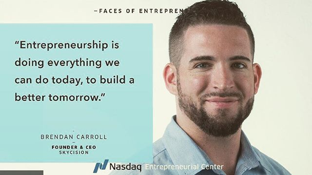 Stoked to see one of our fav clients @bcarroll_12 @skycision_inc in @nasdaqcenter ⚡️ #Repost @bcarroll_12 ・・・ Enjoyed doing this piece on #entrepreneurship with @veronicagledhill for the @nasdaqcenter - thanks for the feature! @werisepr  Link in bio