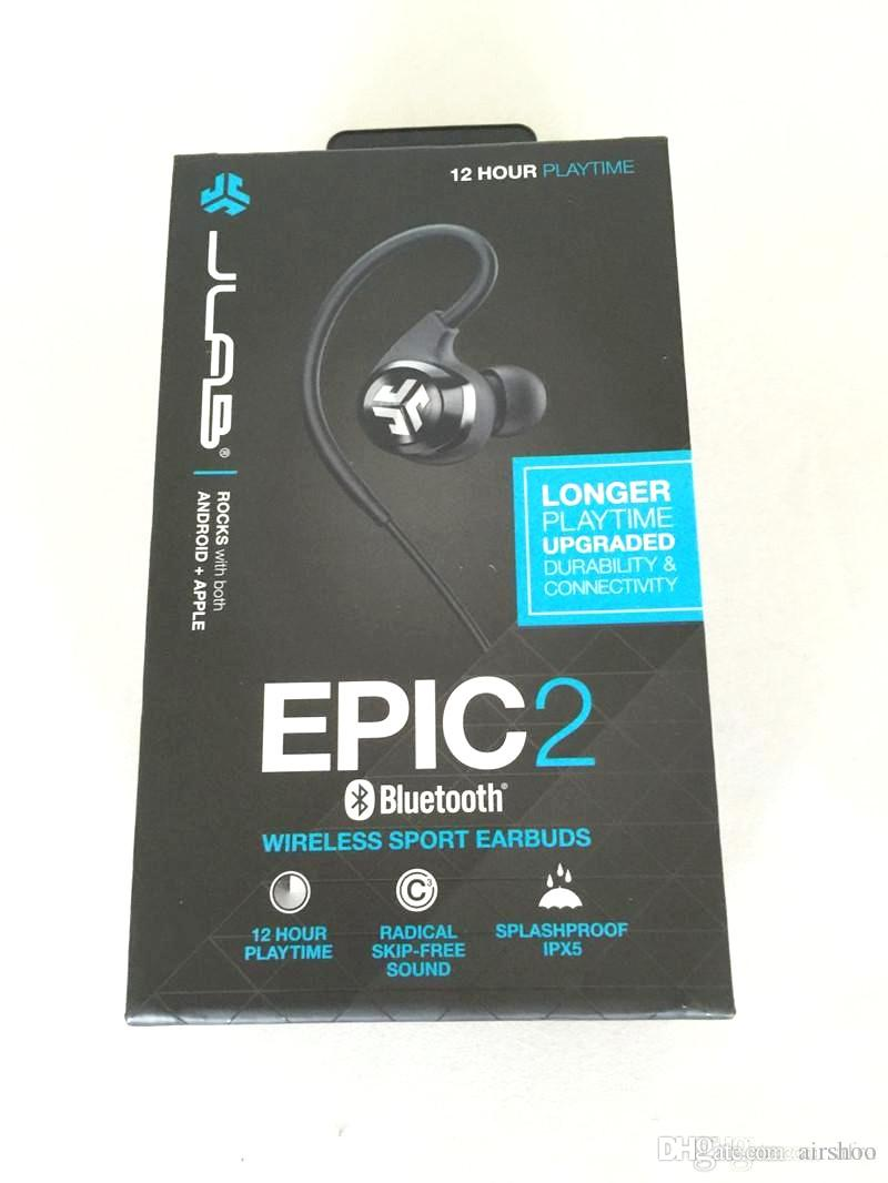 2016 Hot JLab Audio Epic2 Wireless Sport Earbuds Bluetooth 4.0 Headphones Earphones GUARANTEED fitness waterproof IPX5 rated skip-free sound (1).jpg