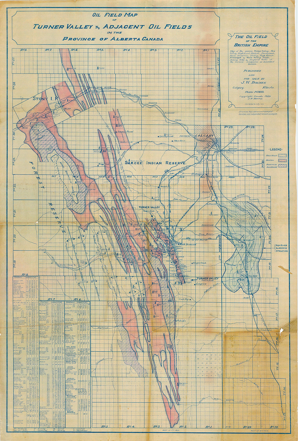 The Oil Field of the British Empire 1929