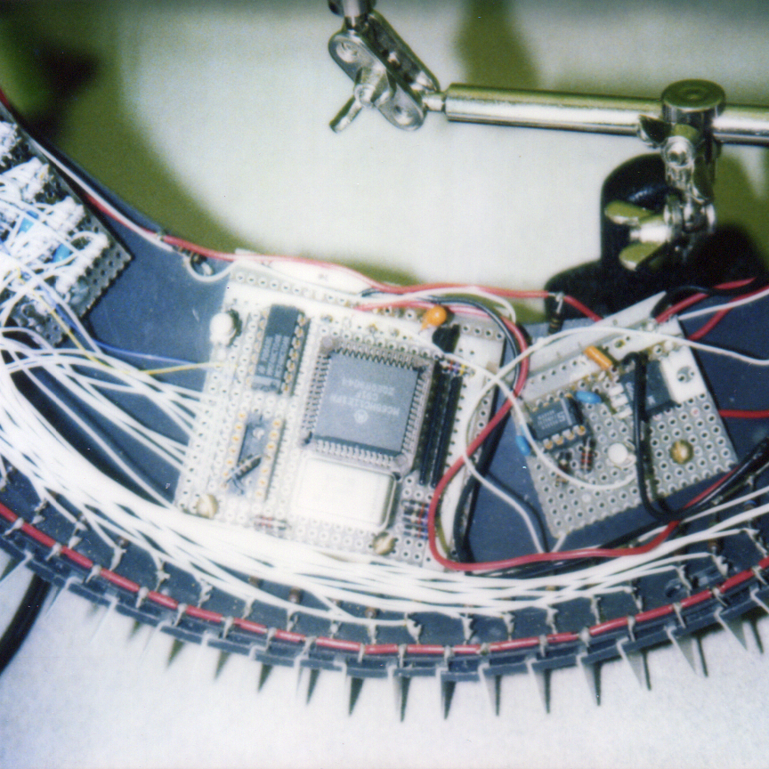 Detail on early infrared version of head tracker