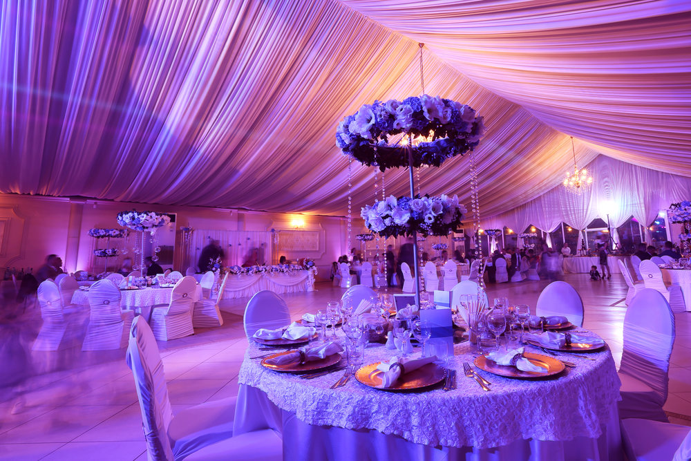 <p><strong>Event lighting</strong>Wireless LED uplights, intelligent lighting, and custom gobos!<a href=/event-lighting>Learn More →</a></p>