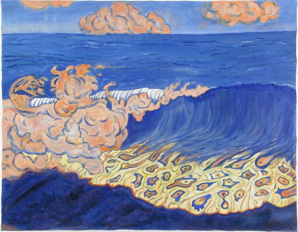 Blue Seascape, Wave Effect,  George Lacombe,