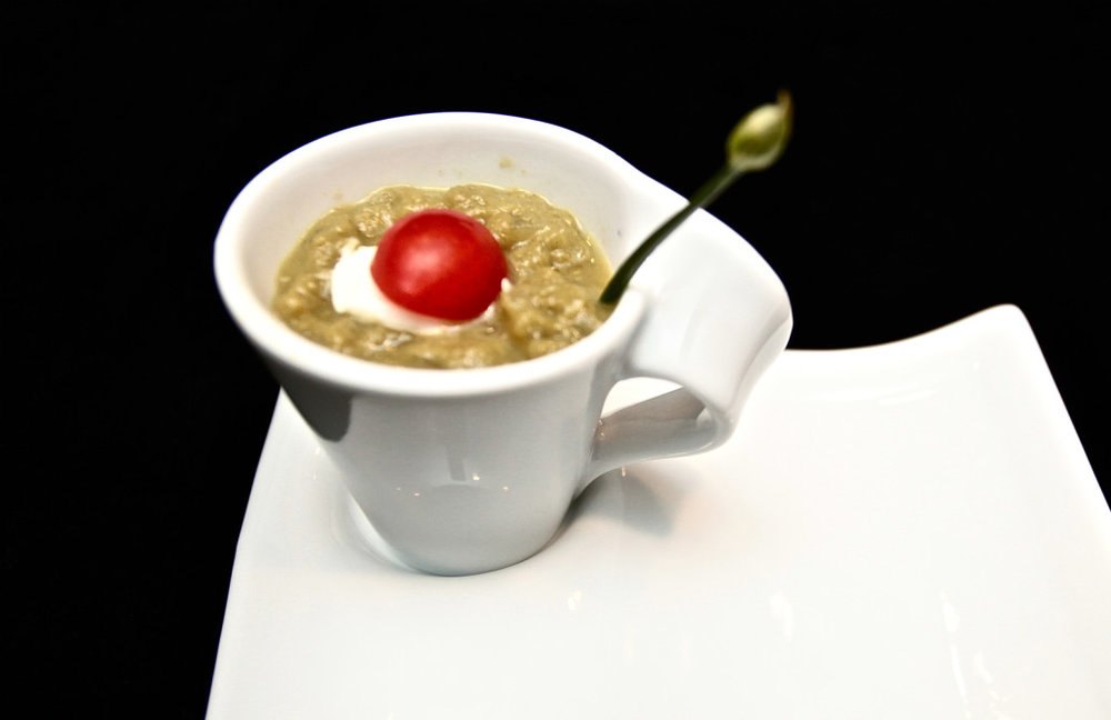 Creamy Asparagus & Corn Soup