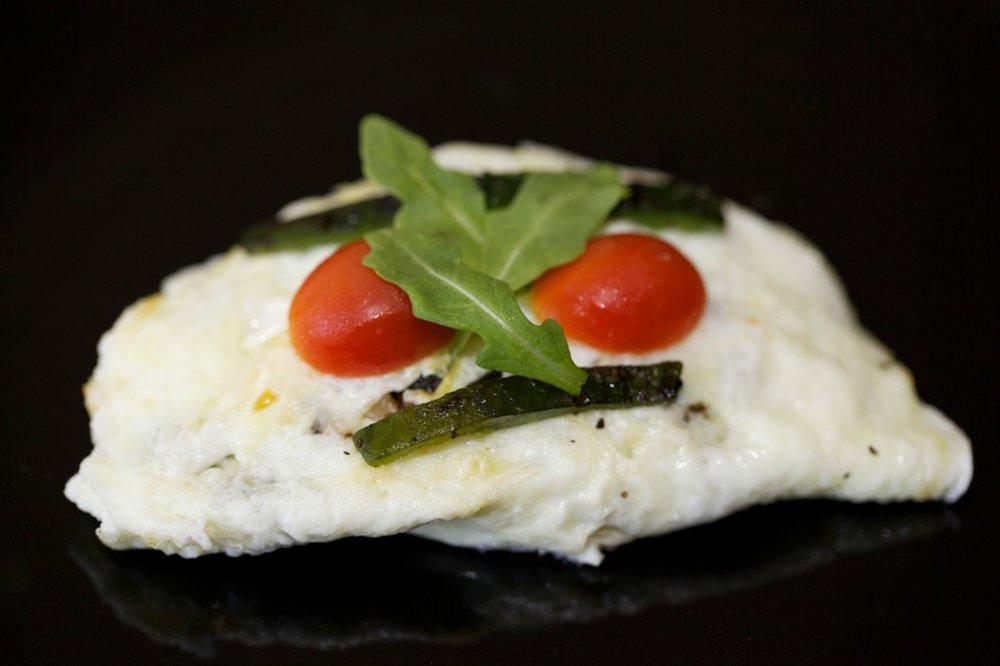 Egg White Omelette with Shitake Mushrooms & Pasilla Peppers