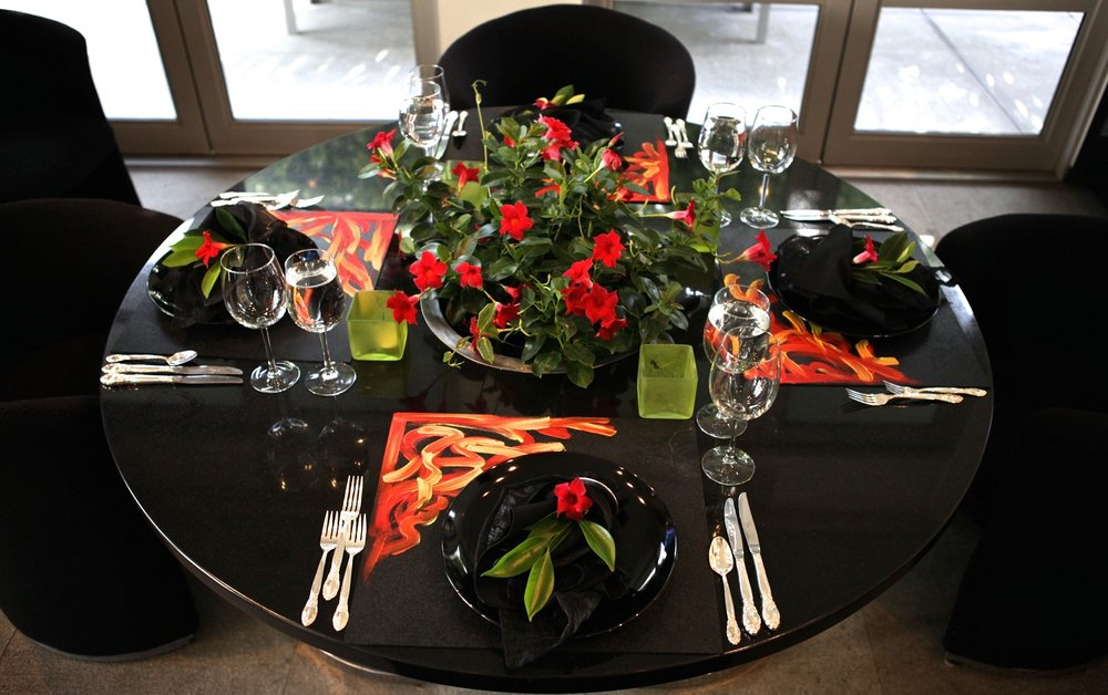 Painted Placemats - by Artist Simon OuwerkerkTablescape Ideas