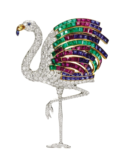 Cartier Flamingo Brooch