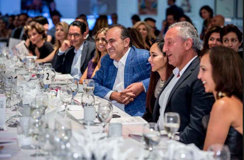 Dinner guests at MOP auction, Bonhams