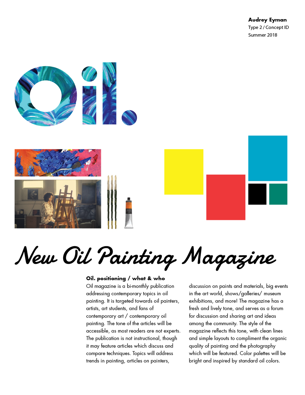 Oil. Magazine Positioning Document