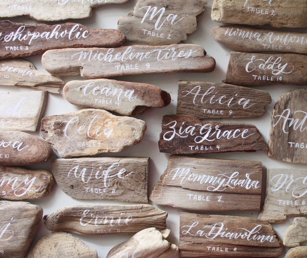 Rustic Driftwood Place Cards