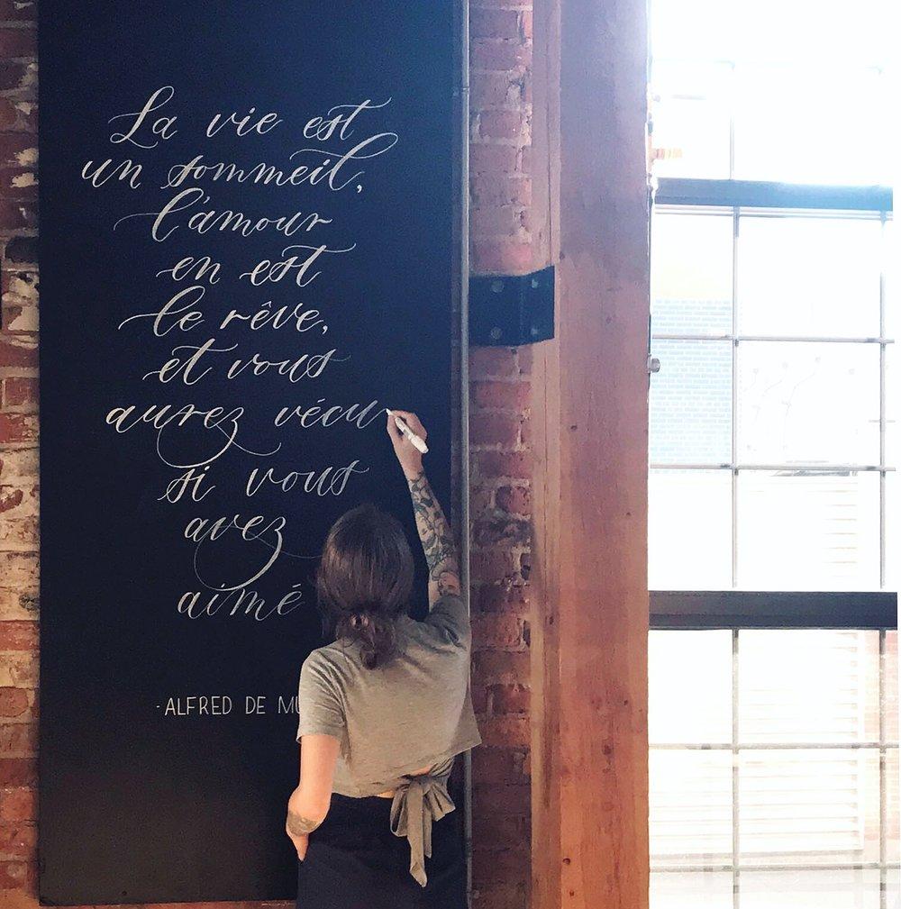 Montreal Chalk Mural, Chalkboard Artist, Calligrapher & Illustrator