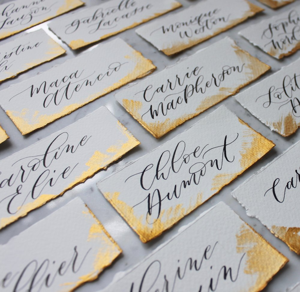 Montreal Corporate Place Cards for Brand Launch Event