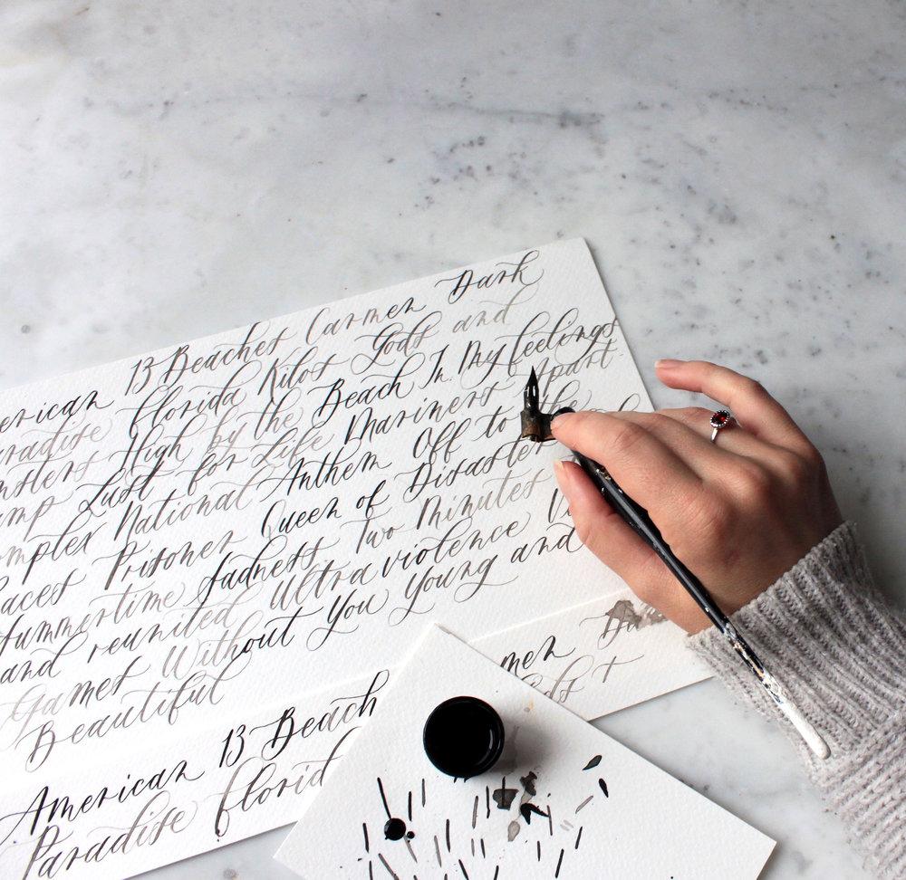 Calligraphy Practice with Pointed Pen (Nikko G Nib & Speedball ink)