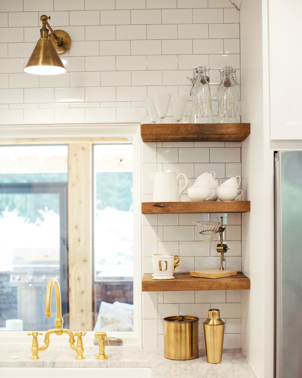 R e a l i t y: my kitchen shelves and sink...