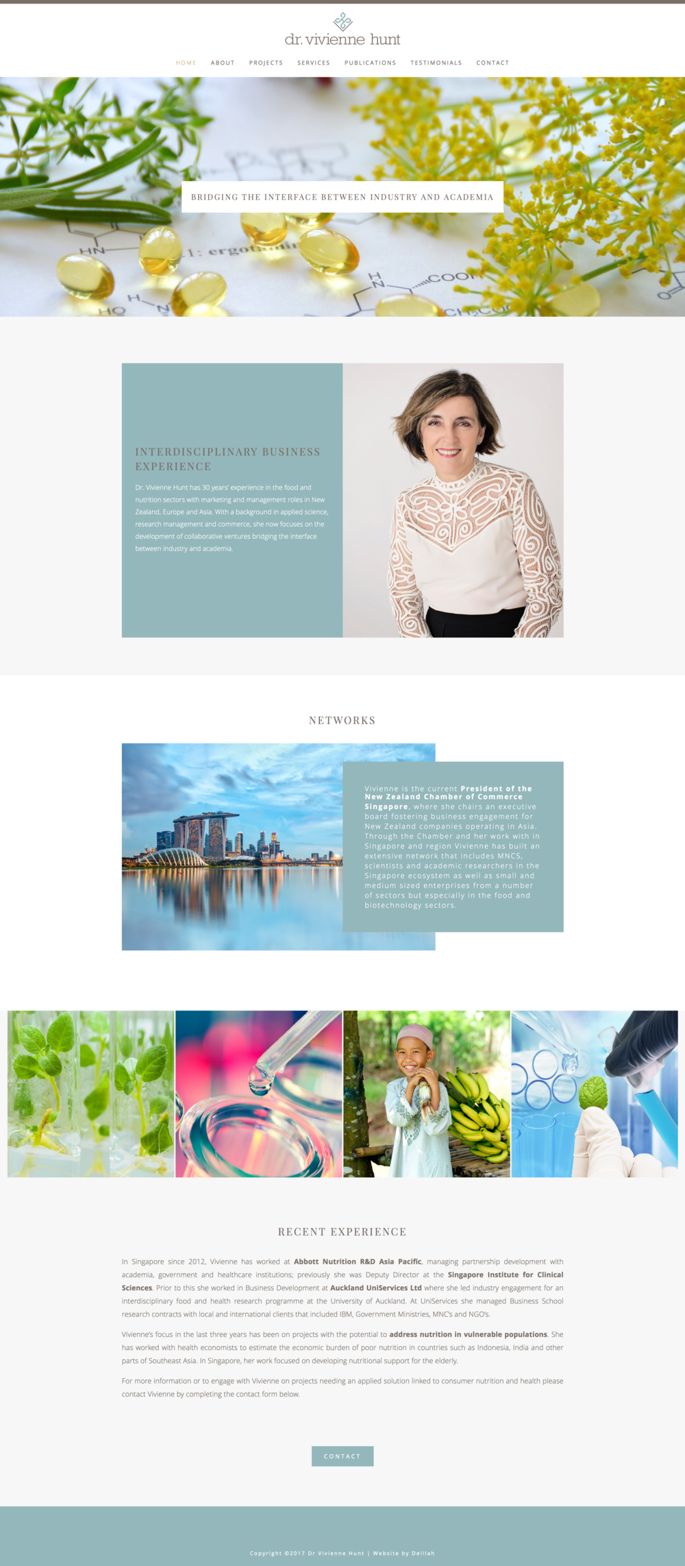 Logo Design & Squarespace Website for Dr. Vivienne Hunt by Delilah Creative | www.delilahcreative.com