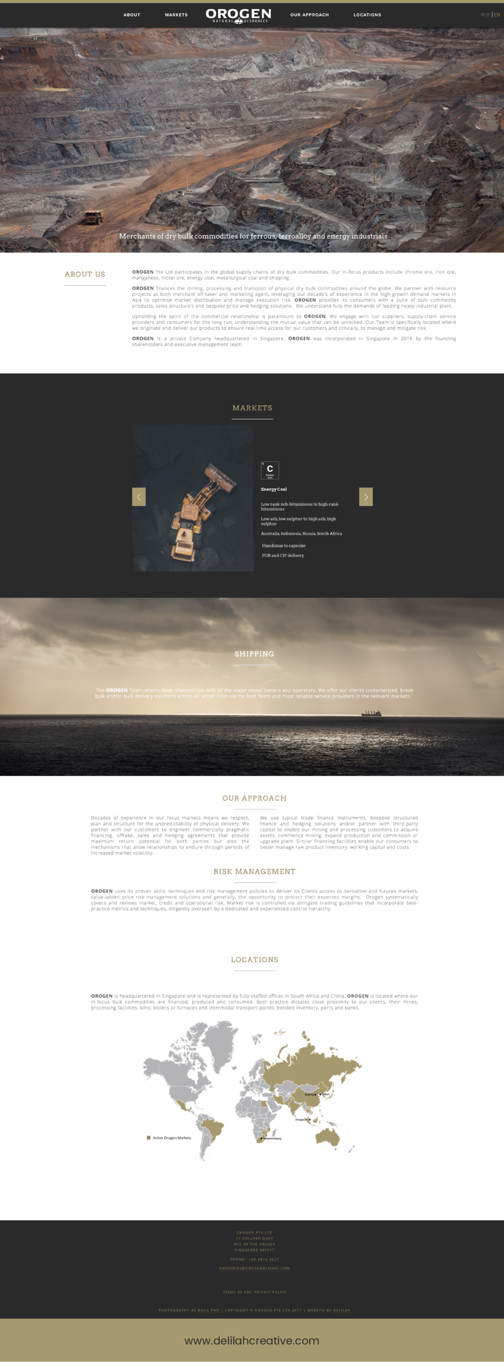 Squarespace Website Design Mining Company by Delilah Creative