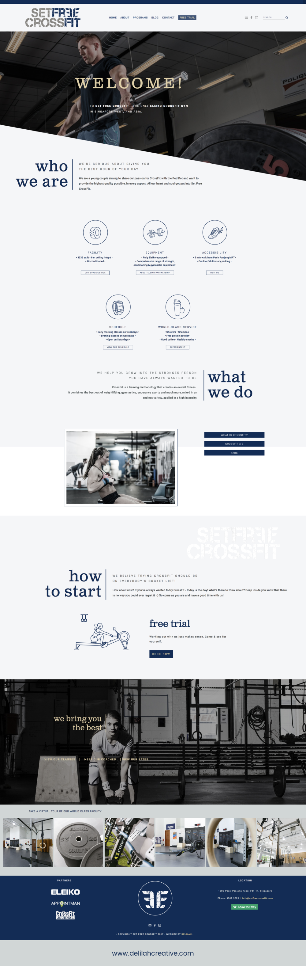 Squarespace Website for Crossfit Box - Delilah Creative