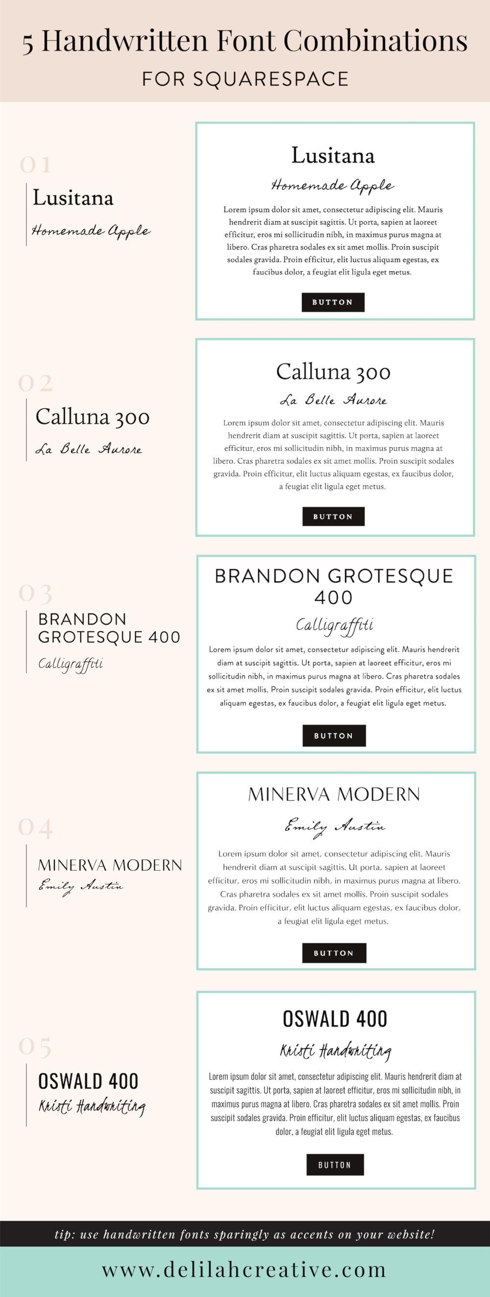 HandwrittenFont Combinations.png
