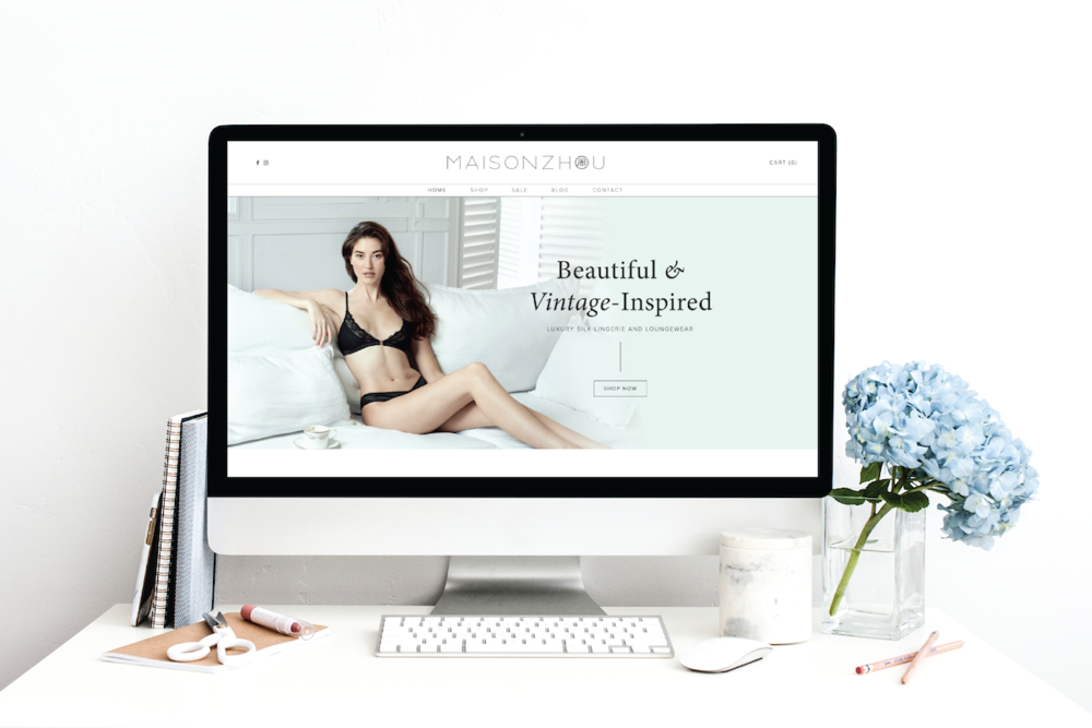 squarespace e-commerce: maison Zhou