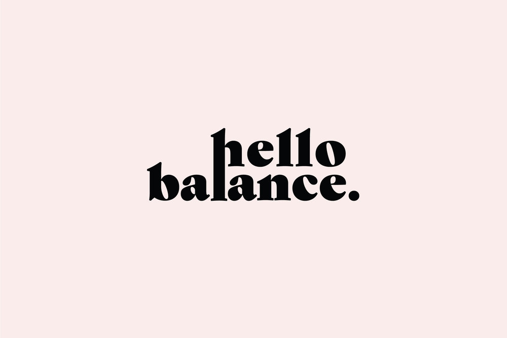 branding + Website: hello balance
