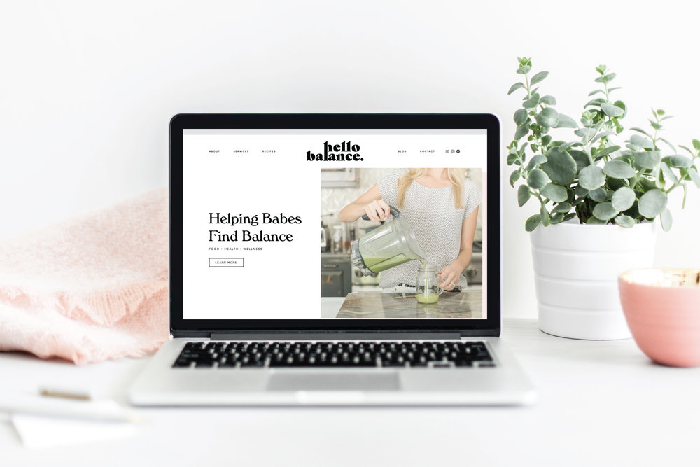 hello balance: branding + website